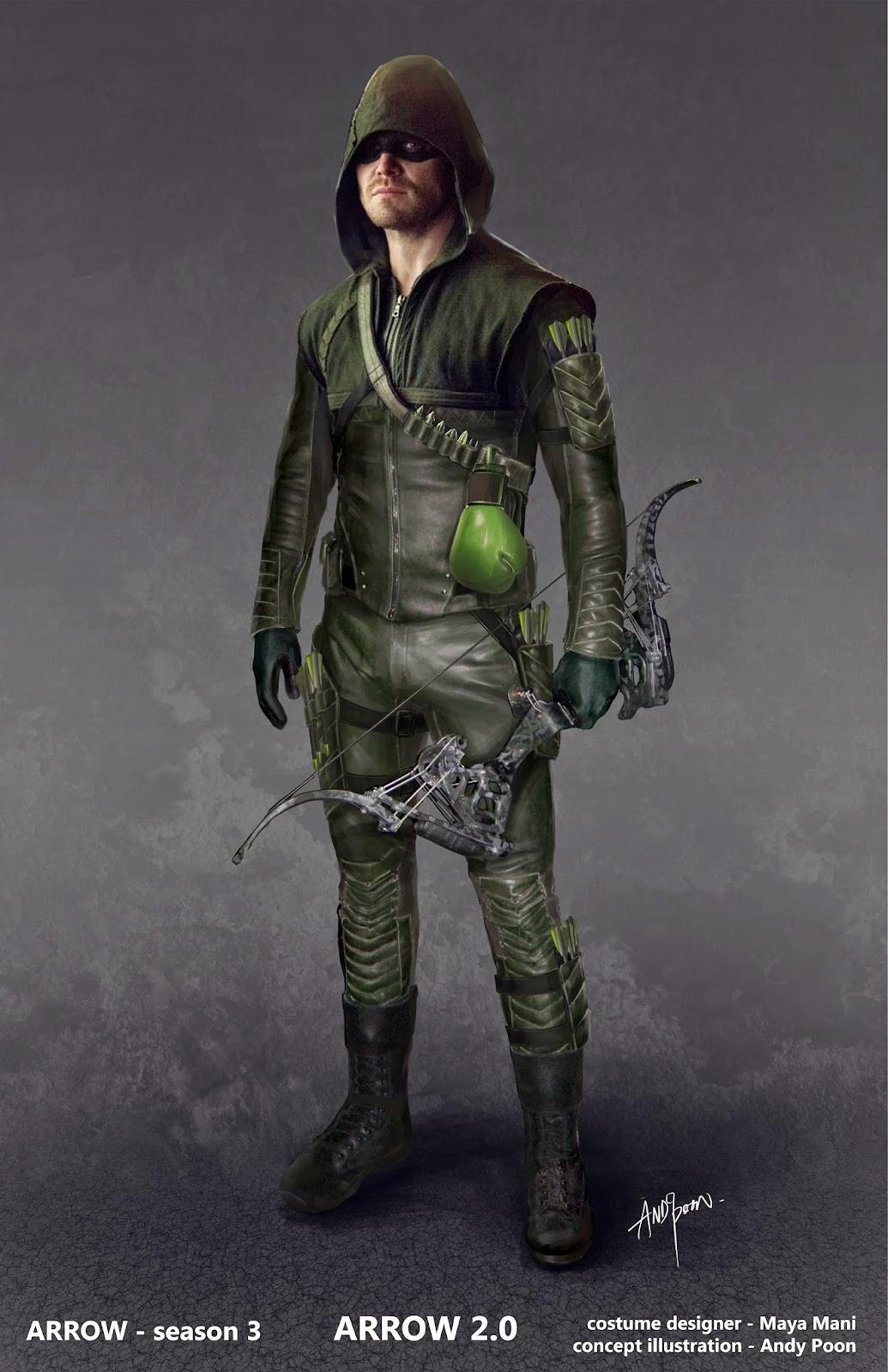 Arrow costume concept art 03