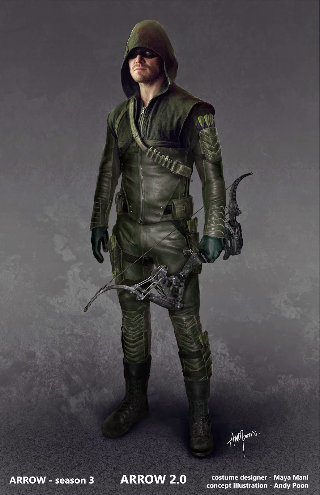 Arrow costume concept art 01