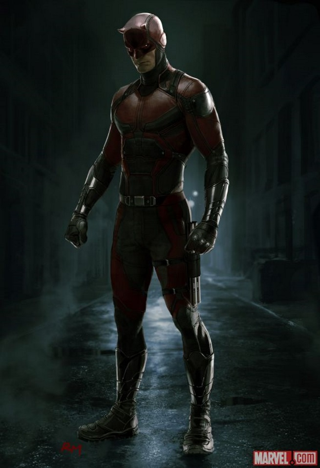 Concept art Daredevil costume