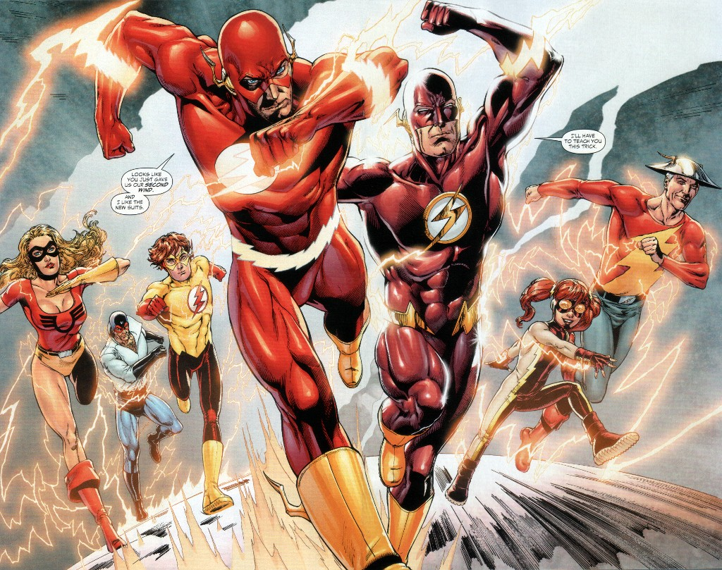 Wally-West-the-Flash-and-the-Speed-Force-family