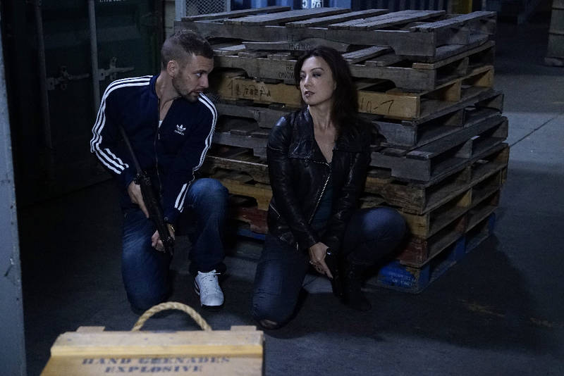 """MARVEL'S AGENTS OF S.H.I.E.L.D. - """"Devils You Know"""" - Having reluctantly agreed to share information with Rosalind and the ATCU, Coulson and the team go in search for the Inhuman who is killing off other Inhumans, and May feels that Hunter's mission to take down Ward is getting too personal, on """"Marvel's Agents of S.H.I.E.L.D.,"""" TUESDAY, OCTOBER 20 (9:00-10:00 p.m., ET) on the ABC Television Network. (ABC/Kelsey McNeal) NICK BLOOD, MING-NA WEN"""