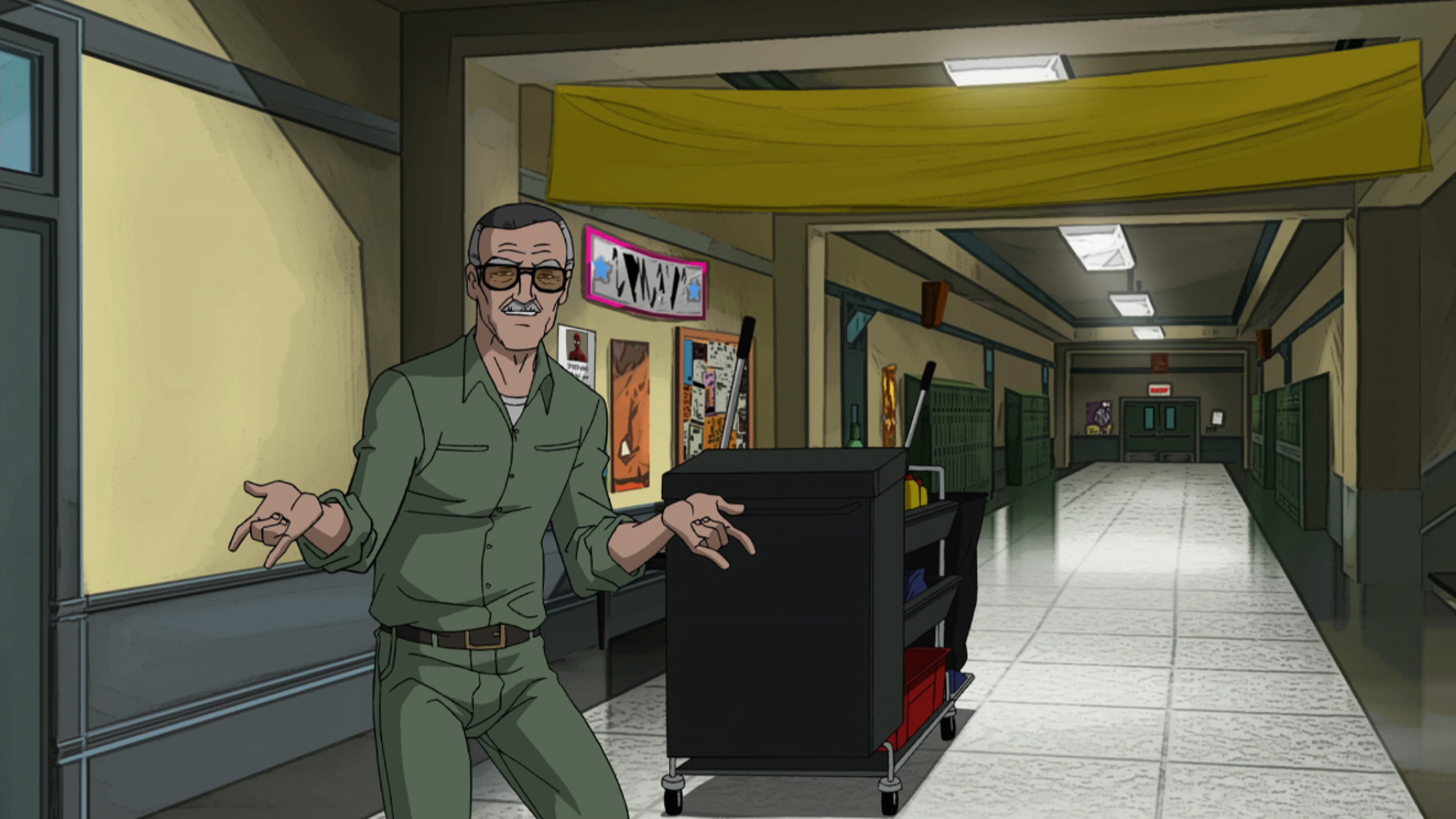 "THE ULTIMATE SPIDER-MAN - ""Great Responsibility"" - Marvel universe hurtles its way onto Disney XD Sunday, April 1, with the compelling new series, ""ULTIMATE SPIDER-MAN,"" and the return of ""THE AVENGERS: EARTH'S MIGHTIEST HEROS."" (DISNEY XD) STAN THE JANITOR"