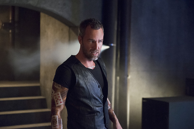 "Arrow -- ""Restoration"" -- Image AR403A_0205b.jpg -- Pictured: JR Bourne as Jeremy Tell -- Photo: Diyah Pera /The CW -- © 2015 The CW Network, LLC. All Rights Reserved."
