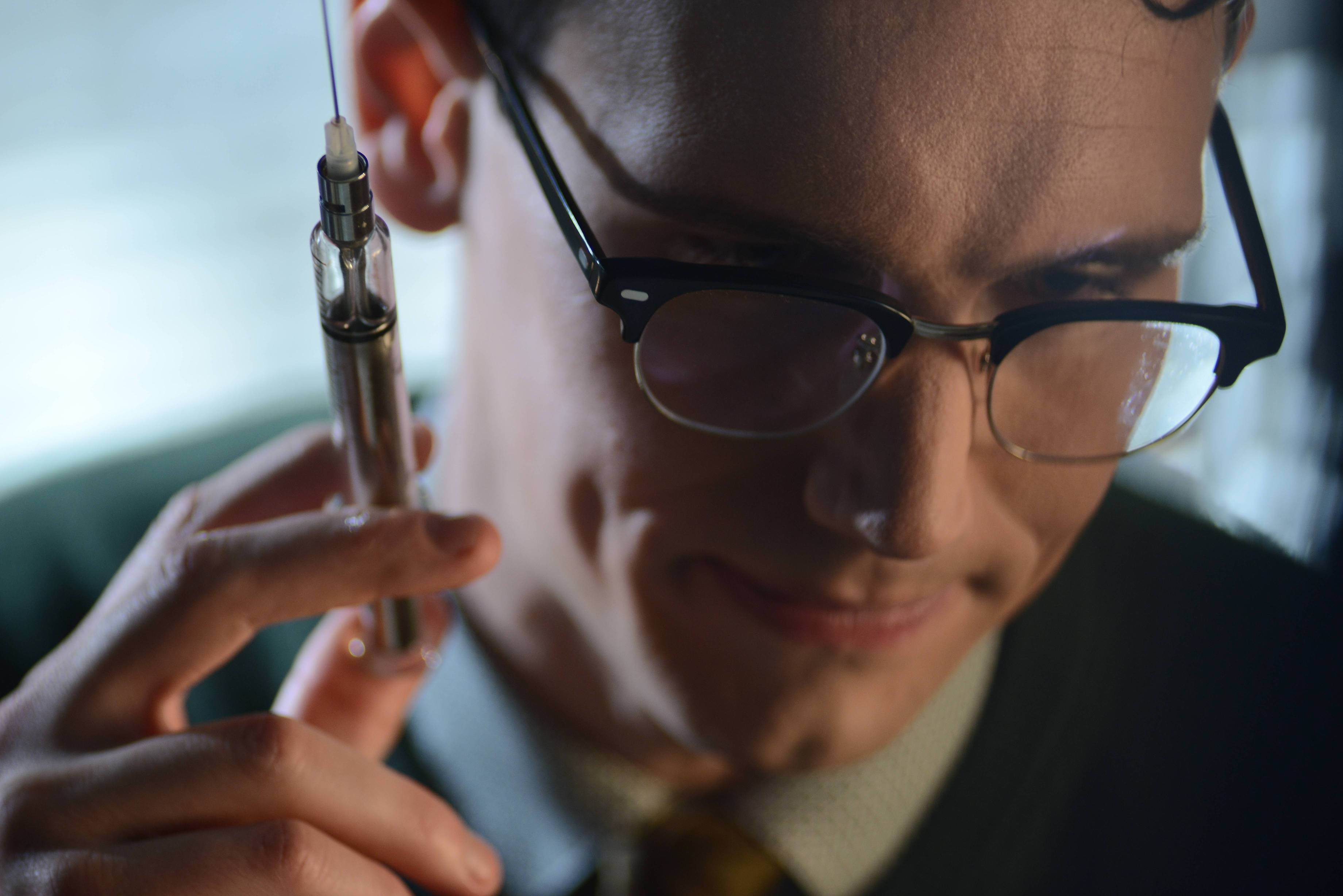 GOTHAM: L-R: Cory Michael in the ÒRise of the Villains: A Bitter Pill to SwallowÓ episode of GOTHAM airing Monday, Nov. 16 (8:00-9:00 PM ET/PT) on FOX. ©2015 Fox Broadcasting Co. Cr: Nicole Rivelli/ FOX