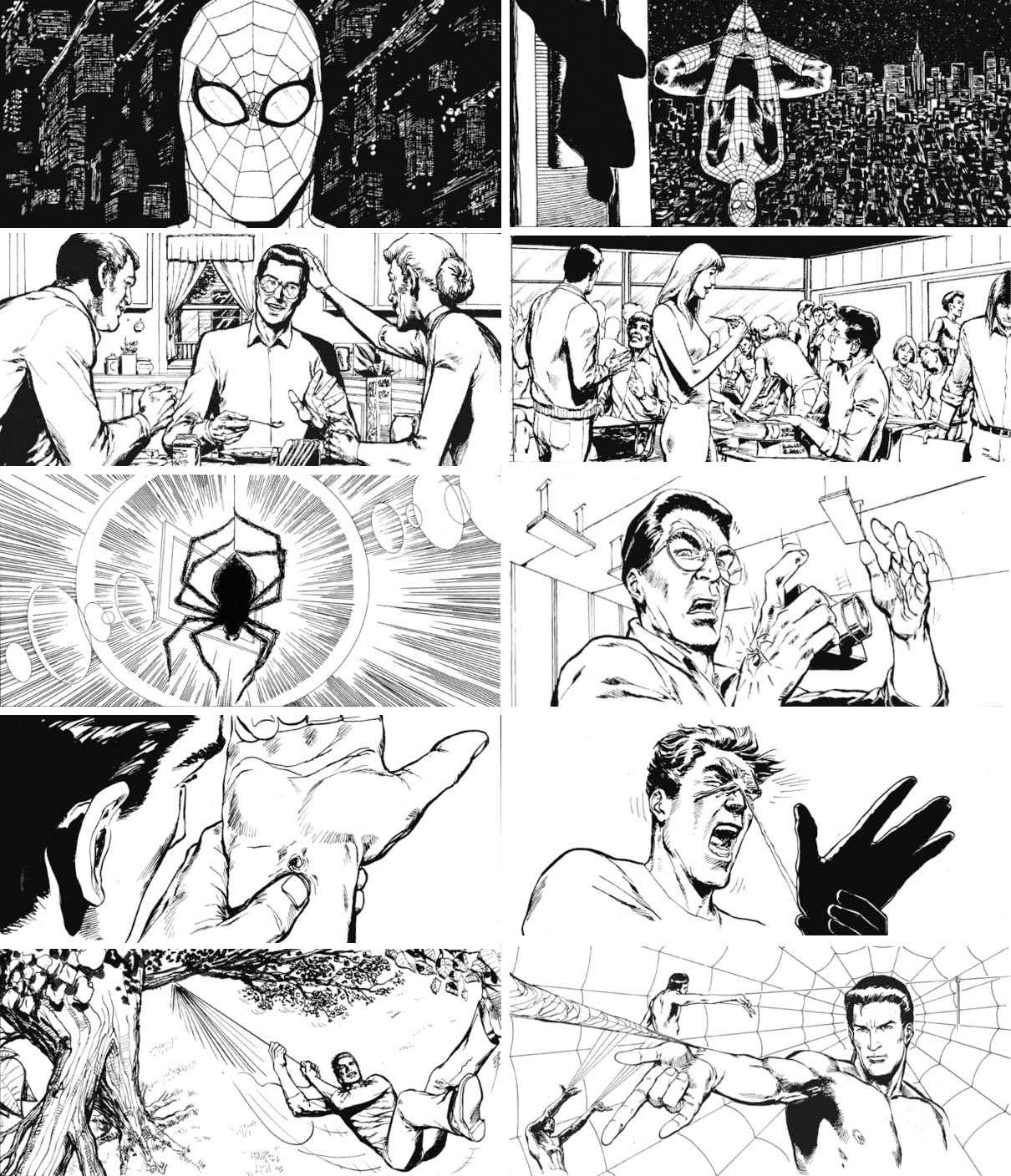 LP1-Spiderman storyboard