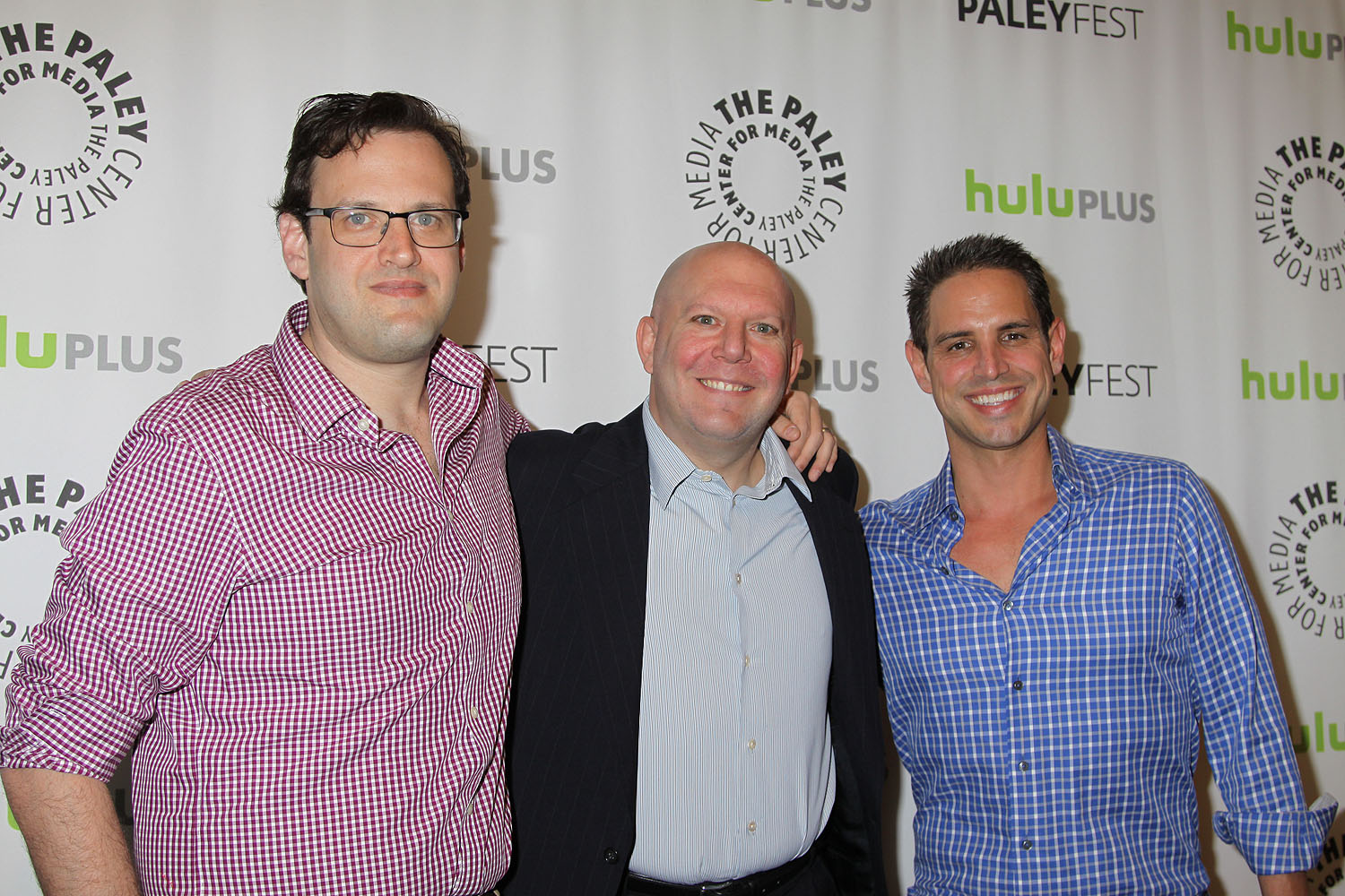 Andrew Kreisberg, Marc Guggenheim and Greg Berlanti at the 30th Annual PaleyFest: The William S. Paley Television Festival presents a night with ARROW, presented by the Paley Center for Media  March 9, 2013 at The Saban Theatre, Beverly Hills, California. Photo Credit Sue Schneider_MGP