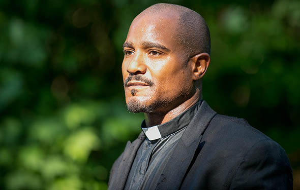 Seth Gilliam as Father Gabriel - The Walking Dead _ Season 5, Episode 2 - Photo Credit: Gene Page/AMC