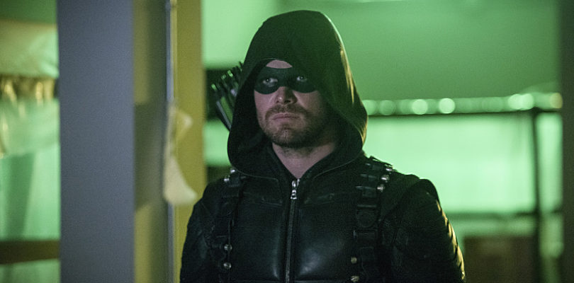 "Arrow -- ""A Matter Of Trust"" -- Image AR503B_0158b.jpg --- Pictured: Stephen Amell as Green Arrow -- Photo: Diyah Pera/The CW -- © 2016 The CW Network, LLC. All Rights Reserved."