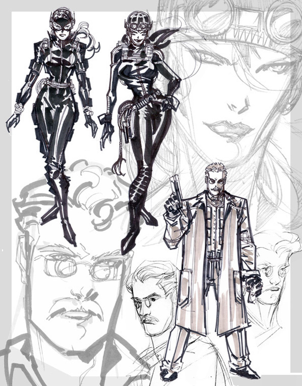Concept Art (Gordon/Catwoman)