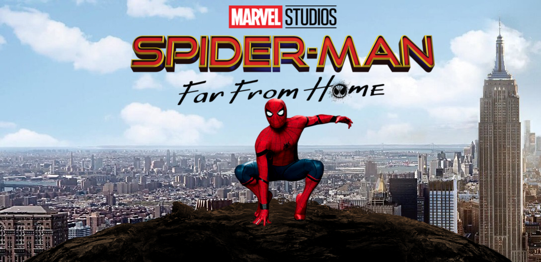 Image result for Spider-Man: Far from Home 2019 banner