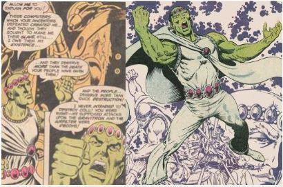 Puisqu'il s'agit tout de même d'un extraterrestre, Brainiac se doit être d'une couleur de peau qui se respecte l'idée canonique de l'époque: c'est à dire la couleur verte. Il revint donc sous l'apparence de Pulsar Stargrave (Pre-Zero Hour).Sargrave est apparu pour la première fois en observant une confrontation entre le Time Trapper et cinq légionnaires.