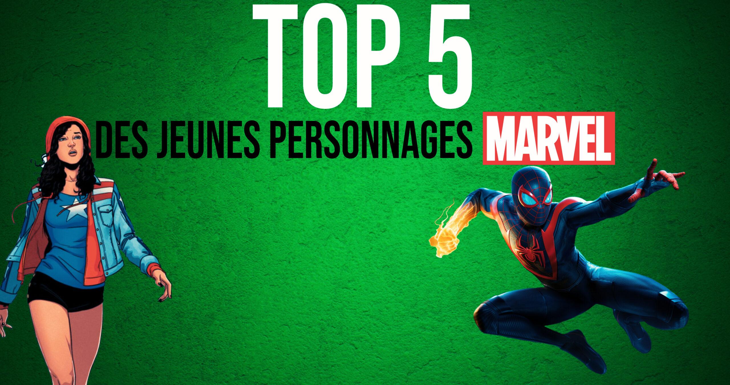 Le TOP 5 des jeunes personnages Marvel